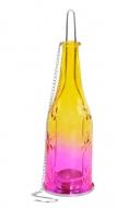 ZÁVESNÁ fľaša žlto - ružová