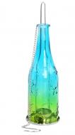 ZÁVESNÁ fľaša tyrkysovo - žltá