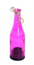 SVIETNIK v tvare fľaše fuchsiový