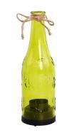 SVIETNIK v tvare fľaše zelený