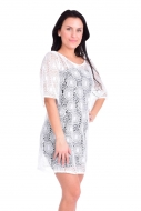 PALLAS šaty s krajkou biele