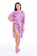 ADELE šaty violet multicolor
