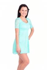 LACY šaty s podšívkou tyrkysové
