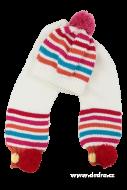 ZIMNÁ čiapka so šálom biela