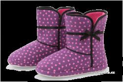 DOMÁCE hrejivé papuče fialové