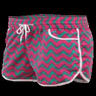 NICOLE krátke nohavice ružovo - zelené