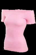 YVETTE top s rukávmi ružový
