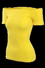 YVETTE top s rukávmi žltý