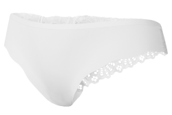 NOHAVIČKY s čipkou z ľadového hodvábu biele