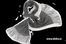 PLETENÝ šál čierno - biely