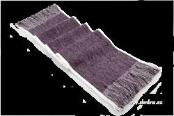 PLETENÝ šál fialovo - šedý