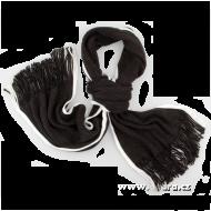 PLETENÝ šál čierny