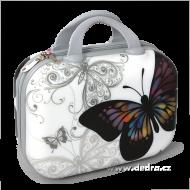 WHITE butterfly príručný kufor
