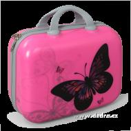 PINK butterfly príručný kufor