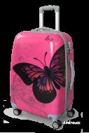 PINK butterfly cestovný kufor
