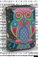 DÁMSKA peňaženka s motívom sovy čierna