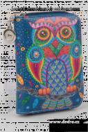 DÁMSKA peňaženka s motívom sovy modrá