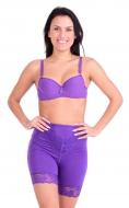 BRIDGET nohavičky s vysokým pásom fialové