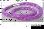 SKLENENÝ náhrdelník fuchsiový
