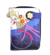 DÁMSKA peňaženka s motívom bicykla modrá
