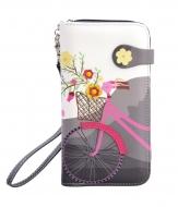 DÁMSKA peňaženka s motívom bicykla šedá
