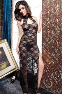 MELONIE čipkované dlhé šaty