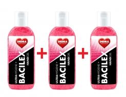 SADA 2 + 1 ZADARMO čistiaci gél na ruky, 65% alkoholu, handGEL BACILEX ultraHYGIENE +