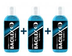 SADA 2 + 1 ZADARMO čistiaci gél na ruky PLATINUM, 65% alkoholu, handGEL BACILEX ultraHYGIENE +