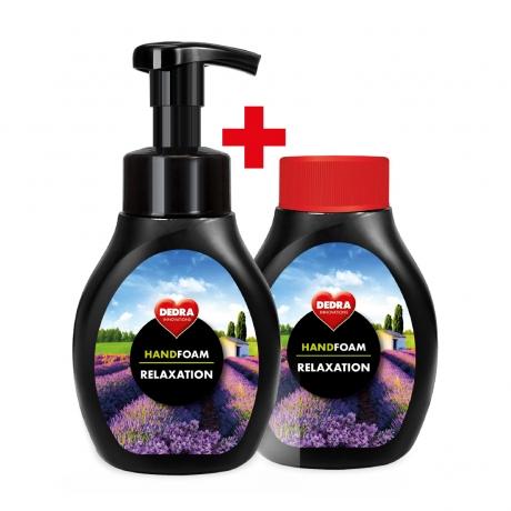 SADA 1 + 1 penové mydlo na ruky aj telo RELAXATION