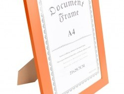 RÁMIK na fotku 21 x 30 cm oranžový