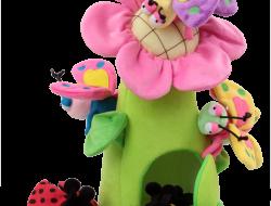 KVIETOK s motýľmi a včielkou