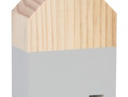 DREVENÝ domček výška 15 cm