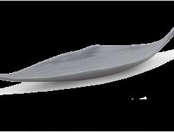 BALI CERAMICS podnos v tvare listu šedý