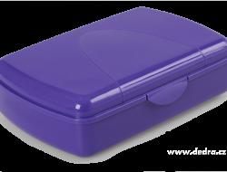 BOX na desiatu tmavo - fialový