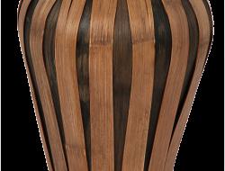 VÁZA z bambusu hnedá