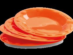 PLASTOVÝ tanier oranžový sada
