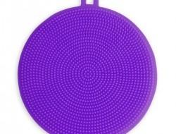 SILIKÓNOVÁ hubka na umývanie fialová