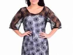 PALLAS šaty s krajkou čierne