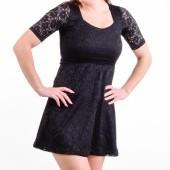LACY šaty s podšívkou čierne