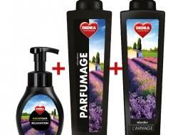 SADA RELAXATION 2 + 1 ZADARMO, penové mydlo na ruky, parfumový super-koncetrát + avivážny kondicionér