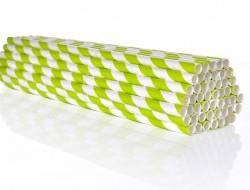 GOECO slamky zeleno - biele