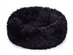 LAGOON VELVET Čalúnený pelech z jemného materiálu 50 cm čierny