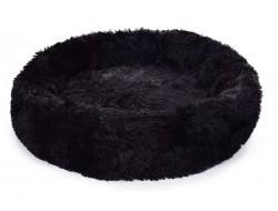 LAGOON VELVET Čalúnený pelech z jemného materiálu 80 cm čierny