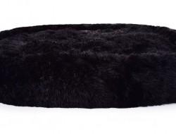 LAGOON VELVET Čalúnený pelech z jemného materiálu 120 cm čierny