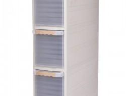 Pojazdný regál SLIM BOX s transparentnými zásuvkami 18 cm