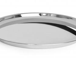 Servírovacia nerezová guľatá tácka 45 cm