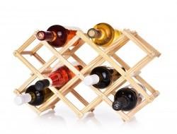 Skladacia drevená vinotéka / stojan na víno GoEco® pre 10 fliaš