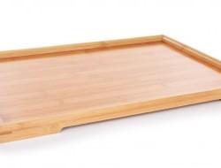 GoEco® Bambusová tácka / podnos s mierne zvýšeným okrajom