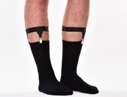 Ponožkové podväzky - traky s upínacími klipsami 2 ks