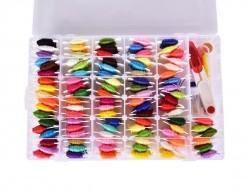 XL VEĽKÝ VYŠÍVACÍ BOX, sada 114 vyšívacích bavlniek a potrieb